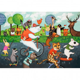PUZZLE CARRERA DE ANIMALES 54 PZAS