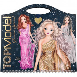 CUADERNO PARA COLOREAR CREATE YOUR GLAMOR TOP MODEL